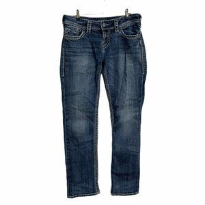 Silver Dark Suki Straight Jeans 29x30